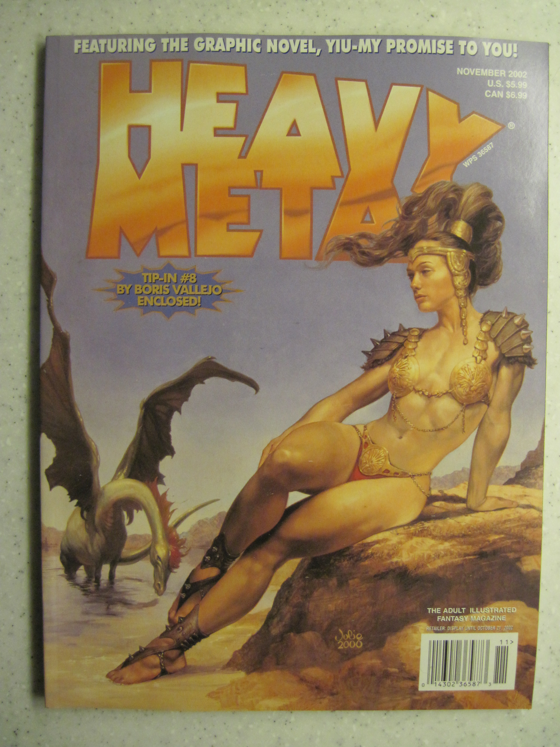 HEAVY METAL MAGAZINE NOV 2002 VF/NM