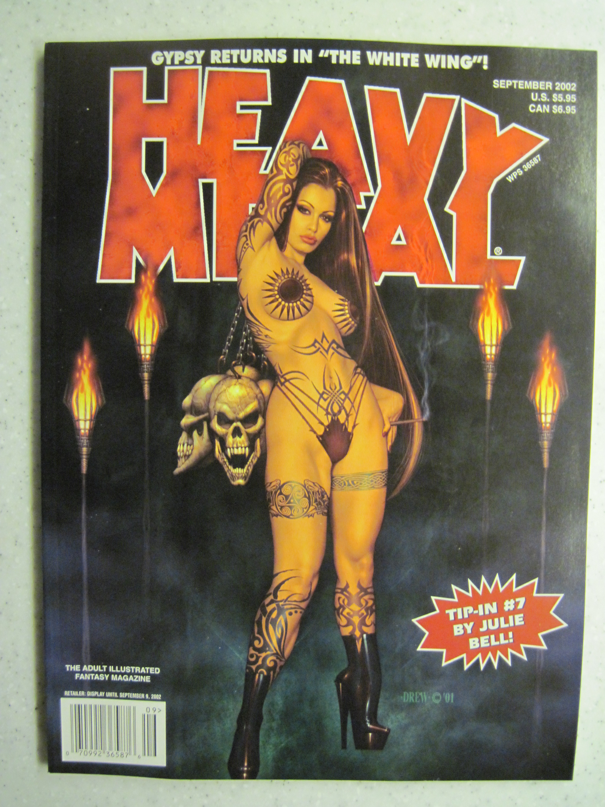 HEAVY METAL MAGAZINE SEPT 2002 VF/NM