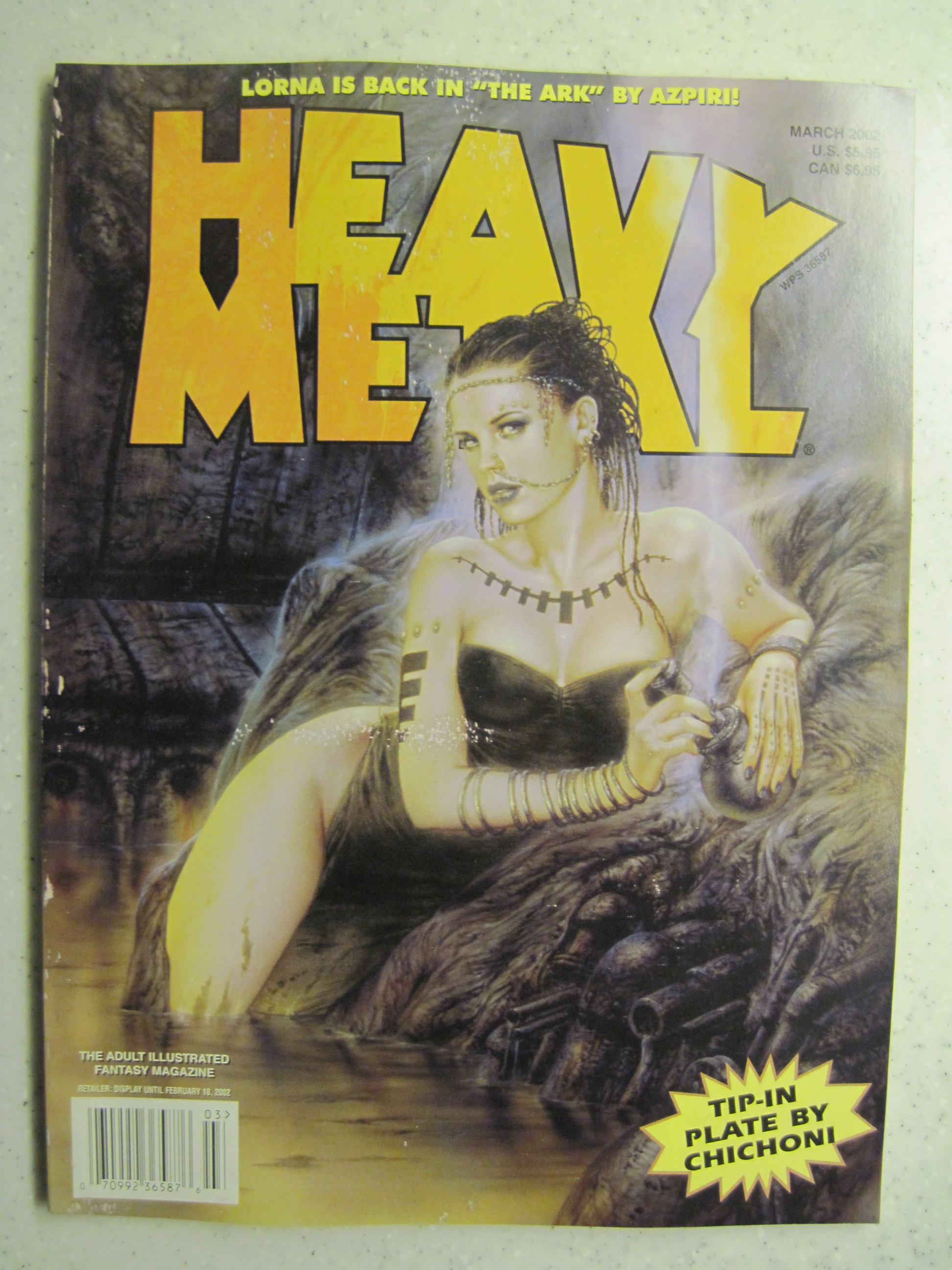 HEAVY METAL MAGAZINE MAR 2002