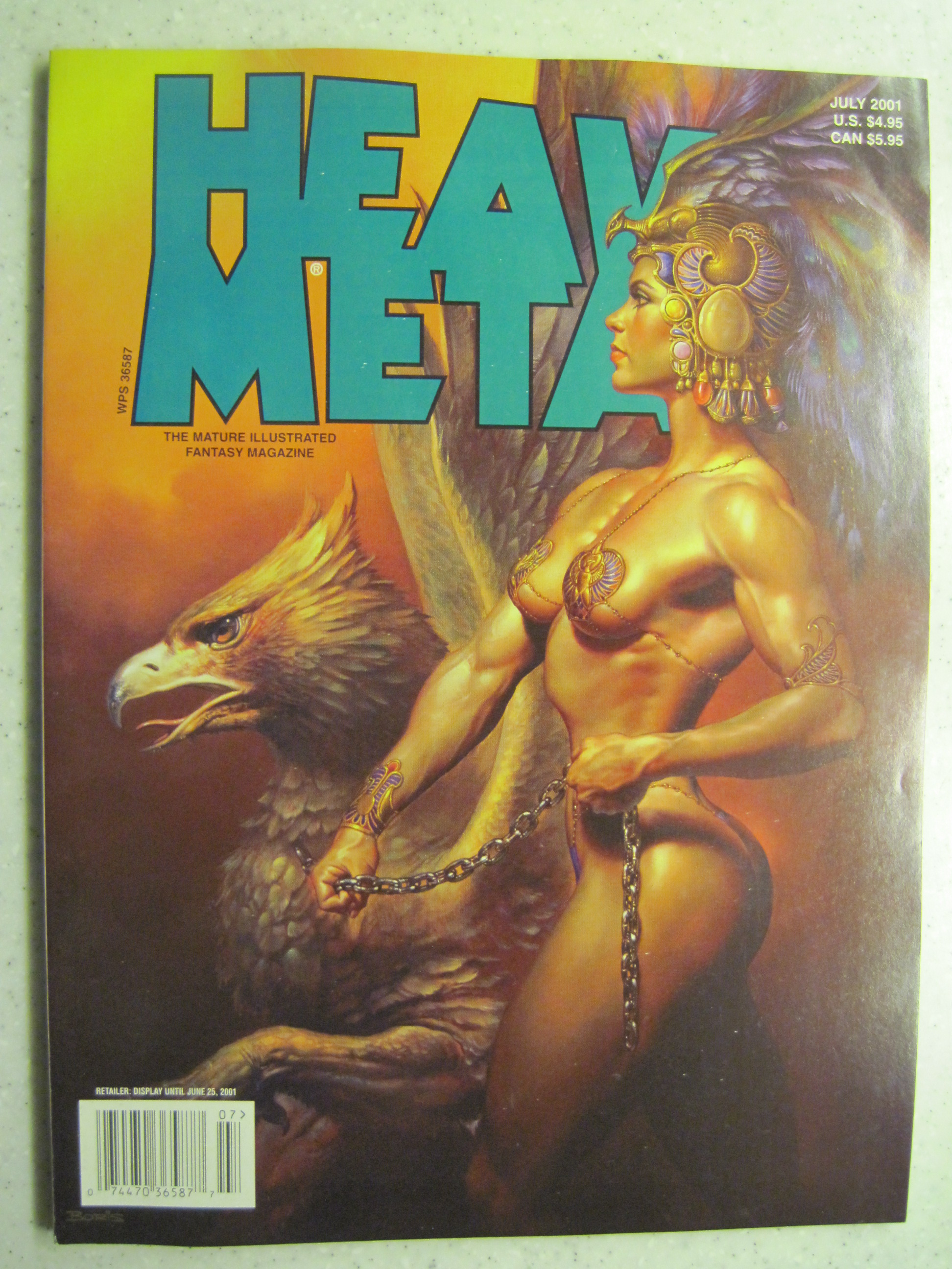 HEAVY METAL MAGAZINE JUL 2001 VF/NM