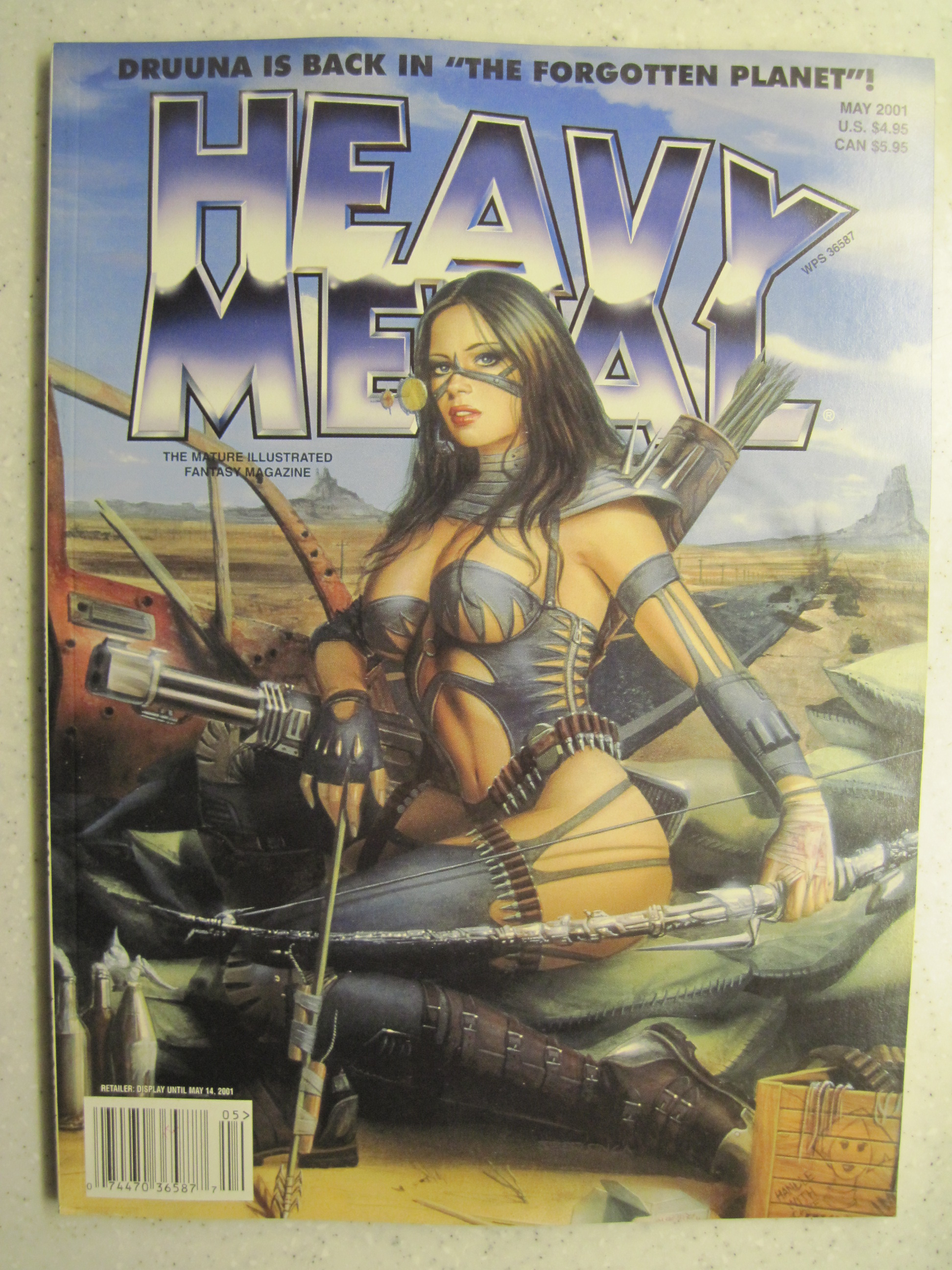HEAVY METAL MAGAZINE MAY 2001 VF/NM