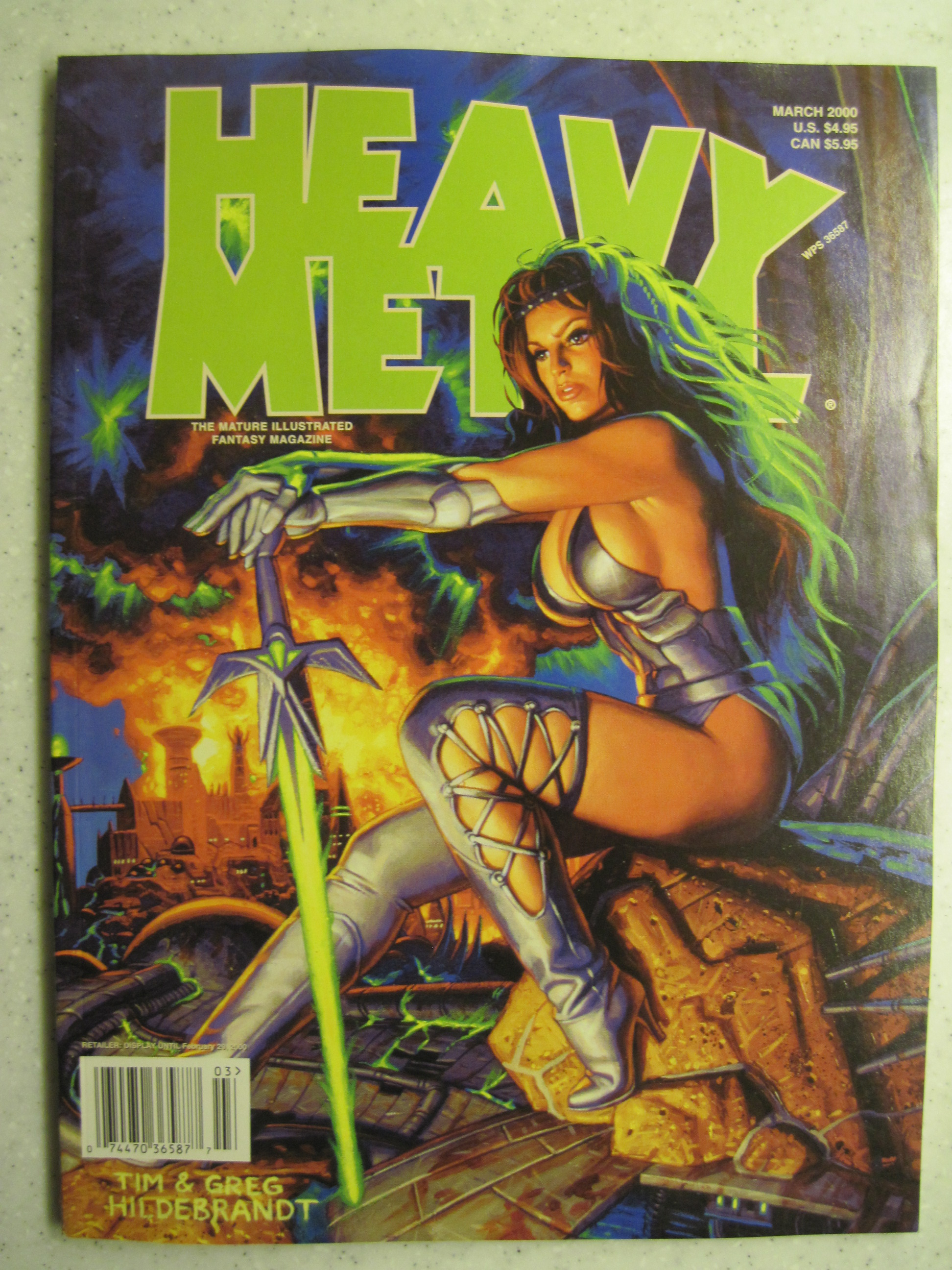 HEAVY METAL MAGAZINE MAR 2000 VF