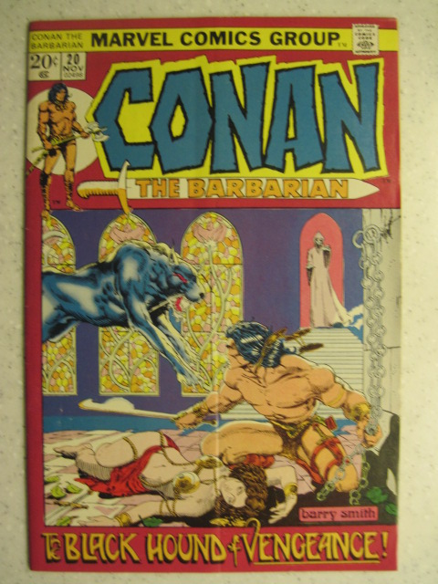 CONAN THE BARBARIAN # 20 MARVEL BRONZE SWORD SORCERY FANTASY HOWARD SMITH FN