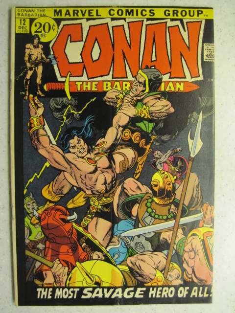 CONAN THE BARBARIAN # 12 MARVEL BRONZE SWORD SORCERY FANTASY HOWARD SMITH VG/FN