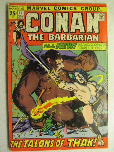 CONAN THE BARBARIAN # 11 MARVEL BRONZE SWORD SORCERY FANTASY HOWARD SMITH VG+