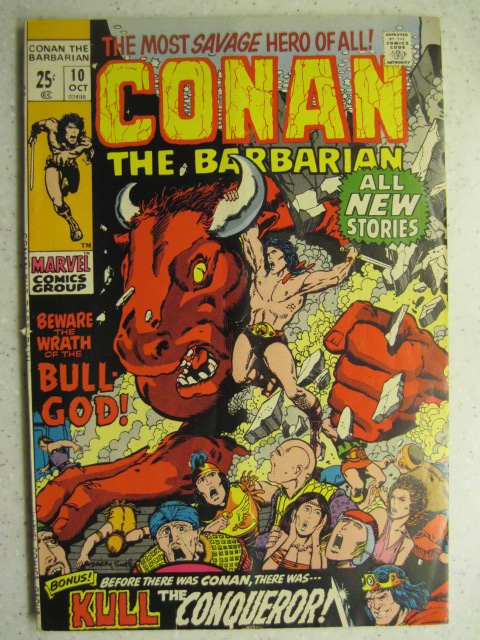 CONAN THE BARBARIAN # 10 MARVEL BRONZE SWORD SORCERY FANTASY HOWARD SMITH VG+