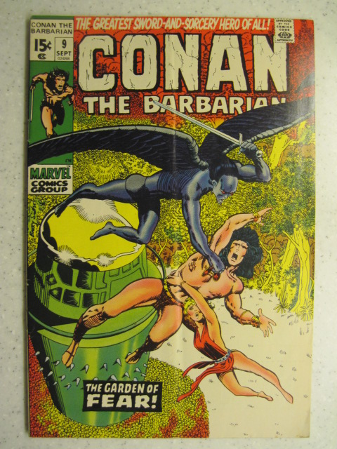 CONAN THE BARBARIAN # 9 MARVEL BRONZE SWORD SORCERY FANTASY HOWARD SMITH FN