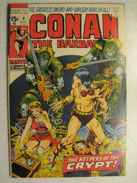 CONAN THE BARBARIAN # 8 MARVEL BRONZE SWORD SORCERY FANTASY HOWARD SMITH FN/VF