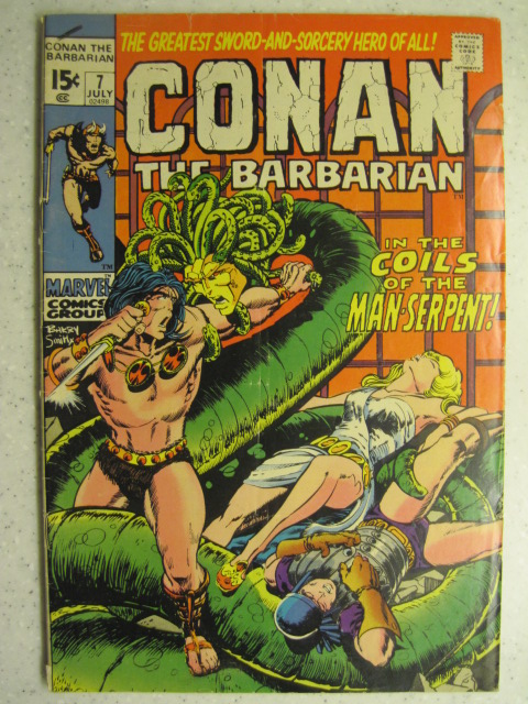 CONAN THE BARBARIAN # 7 MARVEL BRONZE SWORD SORCERY FANTASY HOWARD SMITH VG+