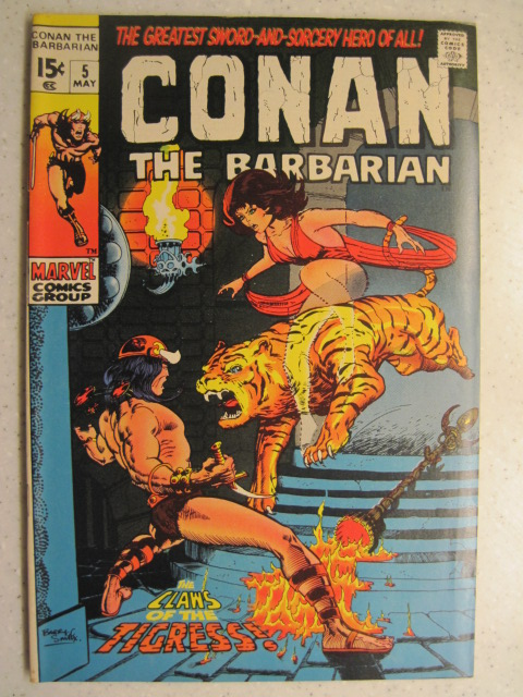 CONAN THE BARBARIAN # 5 MARVEL BRONZE SWORD SORCERY FANTASY HOWARD SMITH VF