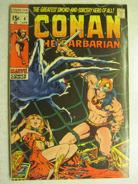 CONAN THE BARBARIAN # 4 MARVEL BRONZE SWORD SORCERY FANTASY HOWARD