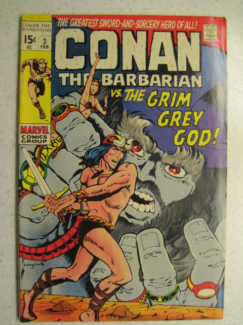 CONAN THE BARBARIAN # 3 MARVEL BRONZE SWORD SORCERY FANTASY HOWARD SMITH FN