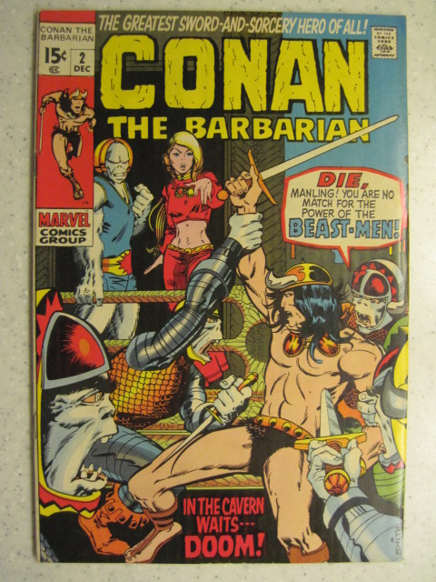 CONAN THE BARBARIAN # 2 MARVEL BRONZE SWORD SORCERY HOWARD FN SMITH