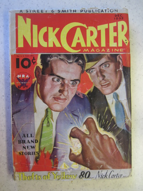NICK CARTER PULP DEC 1933 STREET SMITH GD/VG