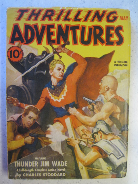 THRILLING ADVENTURES MAY 1941 1ST THUNDER JIM WADE PULP ACTION VG