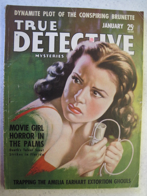TRUE DETECTIVE MYSTERIES PULP MAGAZINE JAN 1940 VG-