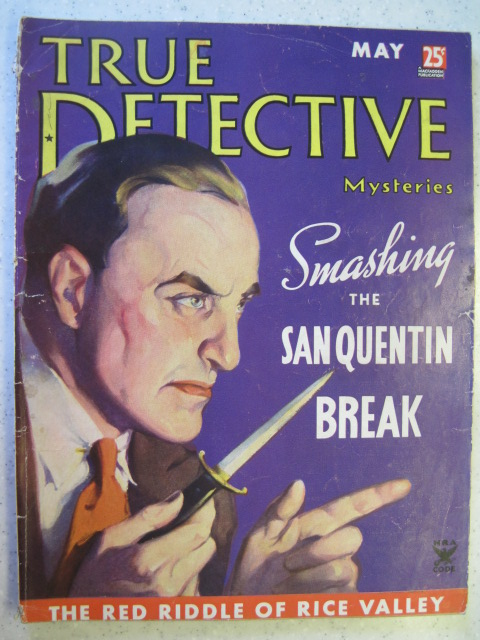 TRUE DETECTIVE MYSTERIES PULP MAGAZINE MAY 1935 VG-
