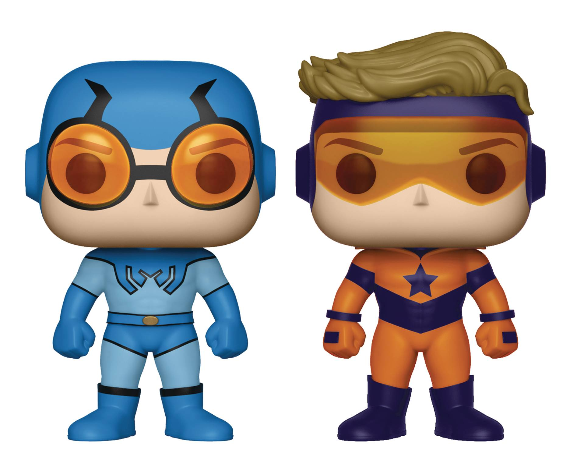 Funko Pop Previews Exclusive Booster Gold & Blue Beetle 2 Pack