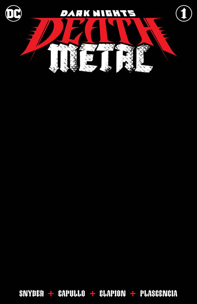 Dark Nights Death Metal #1 Black Blank Cvr Ed