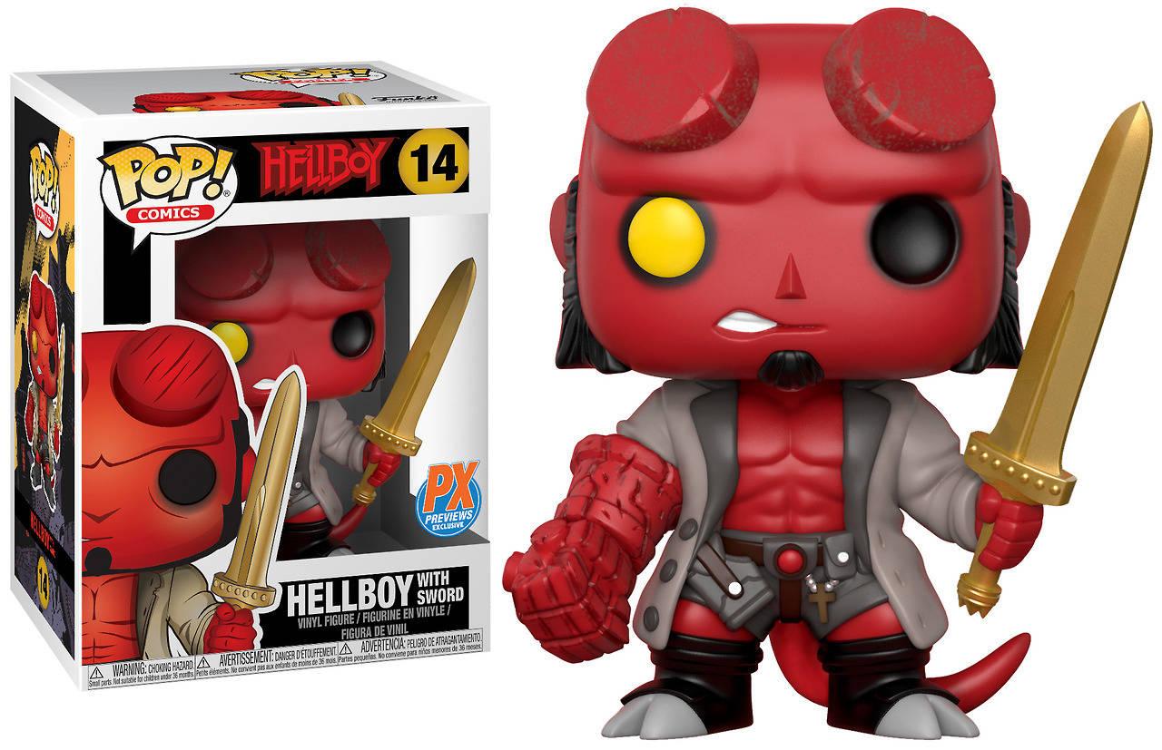 Funko Pop Previews Exclusive Hellboy w/ Excalibur