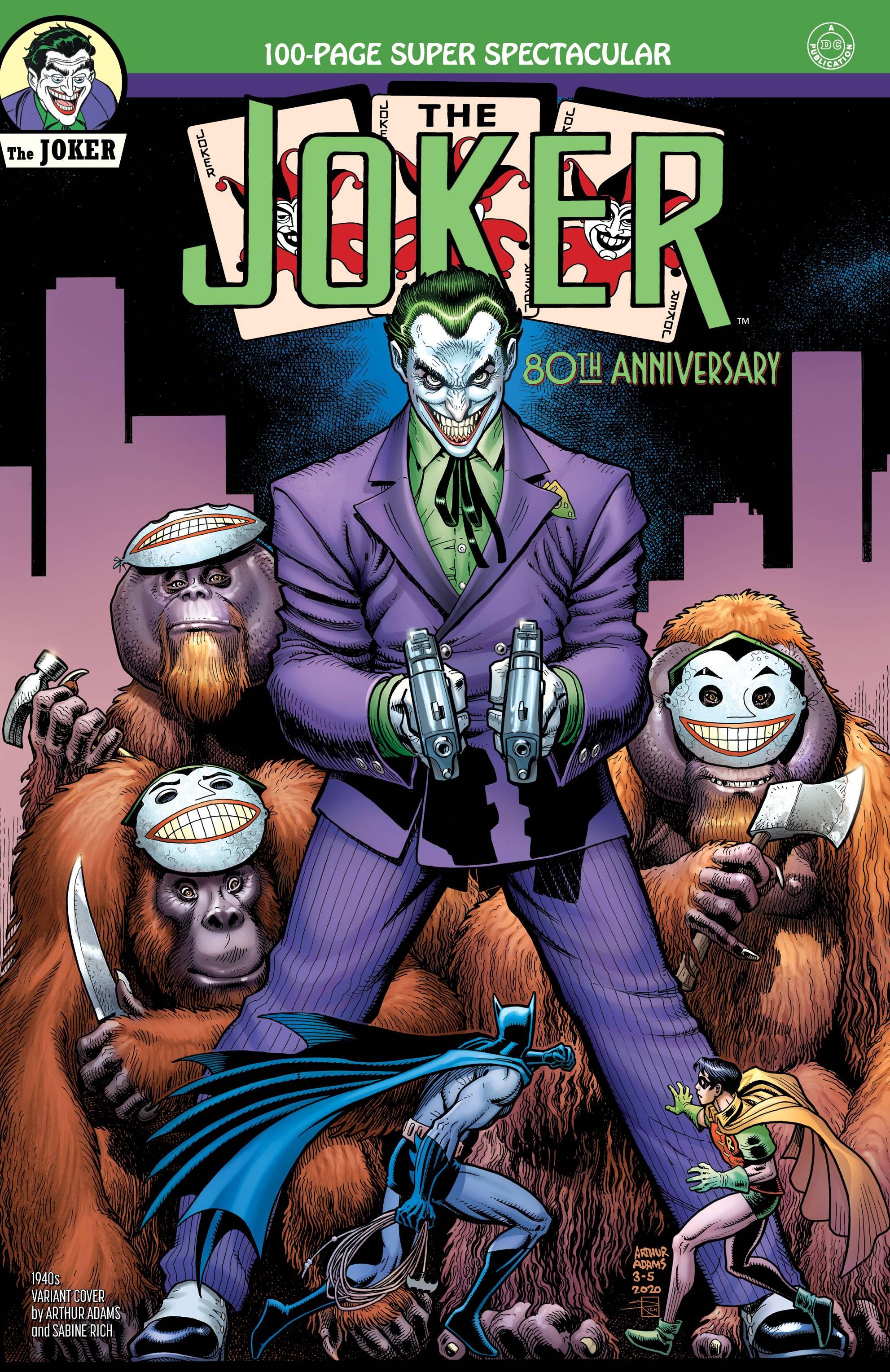 Joker 80th Anniv 100 Page Super Spect #1 1940s Arthur Adams Cover