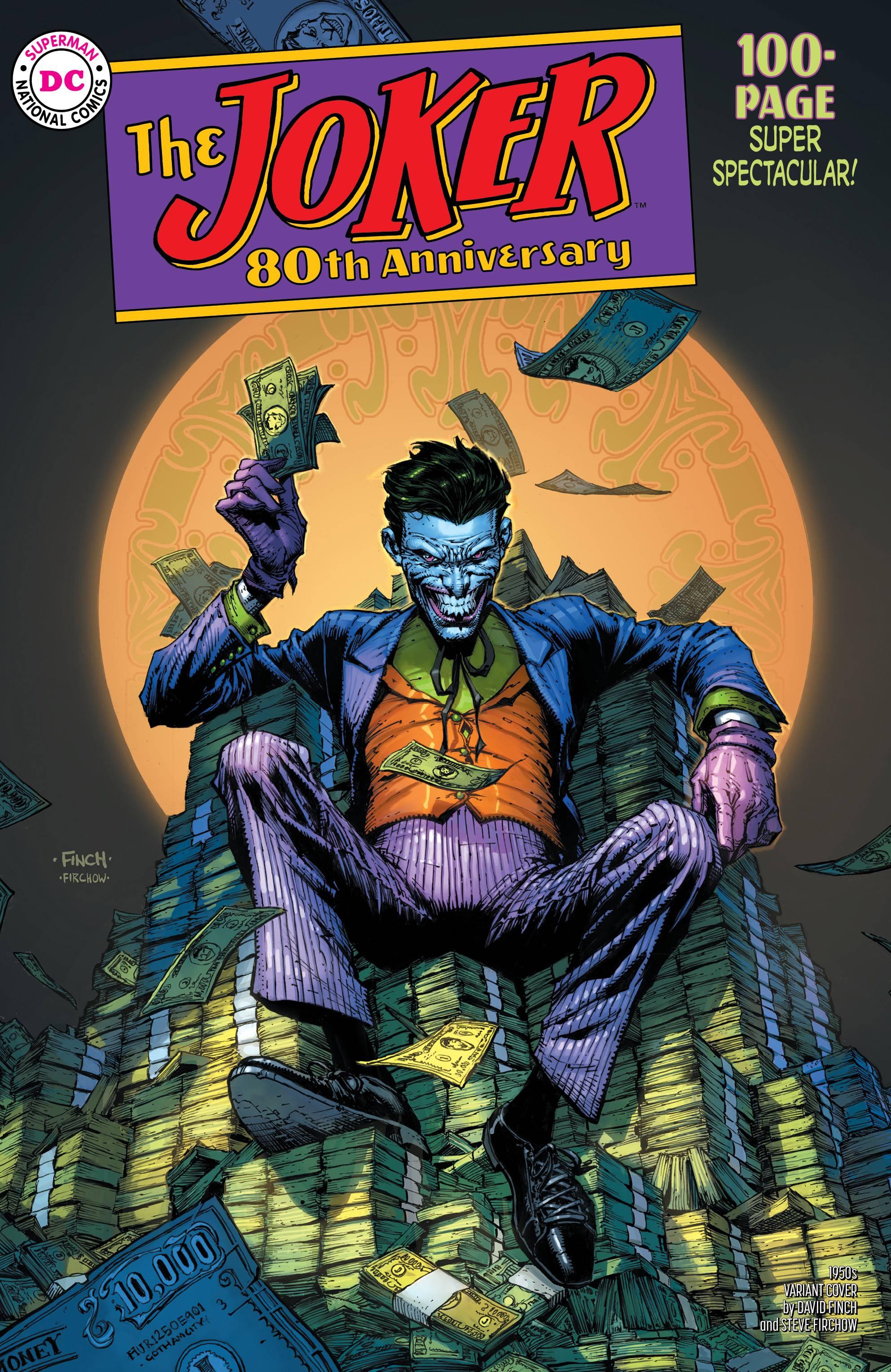 Joker 80th Anniv 100 Page Super Spect #1 1950s David Finch Cover
