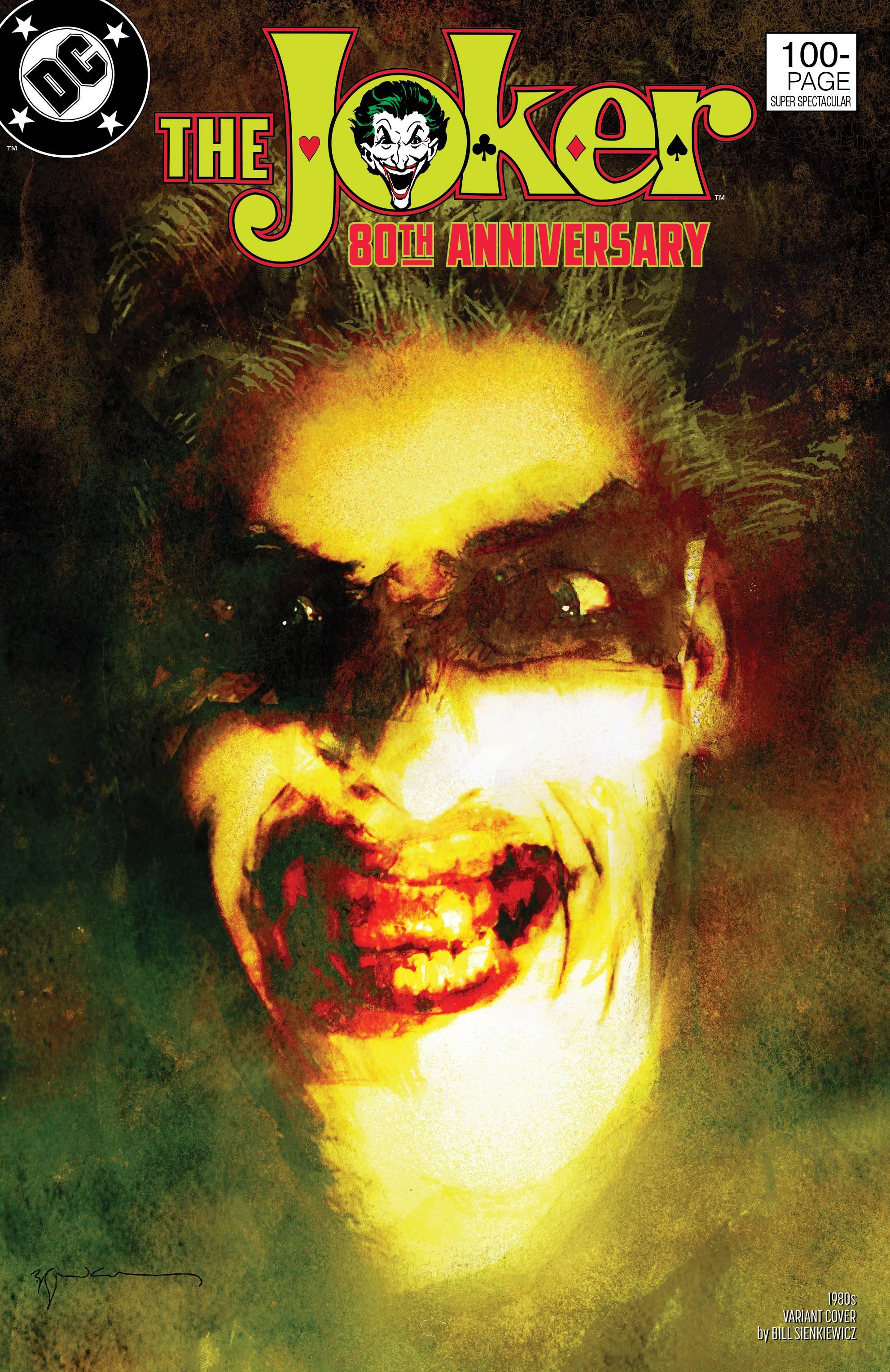 Joker 80th Anniv 100 Page Super Spect #1 1980s Seinkiewicz Cover