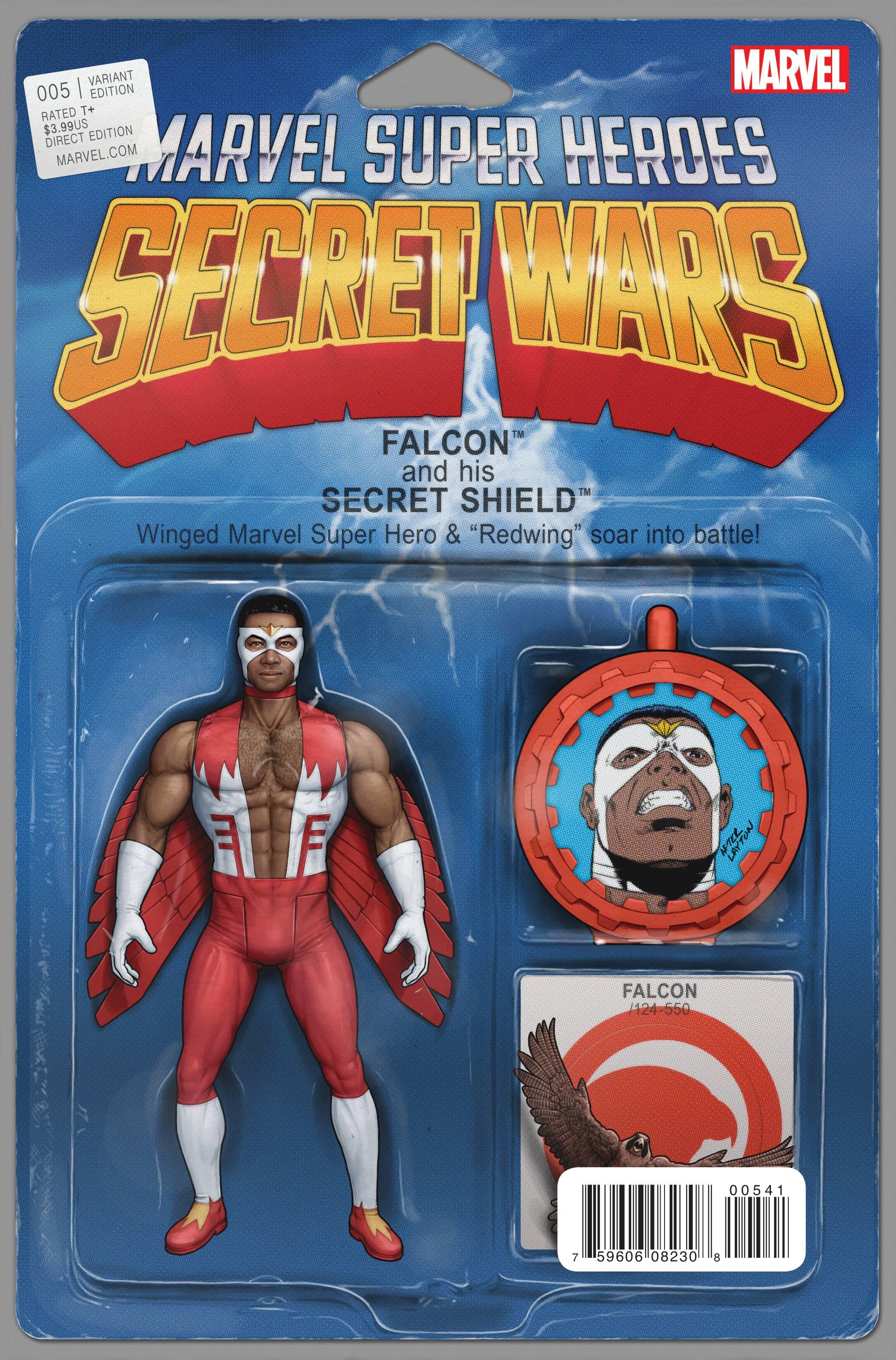 Secret Wars #5 Falcon Action Figure Variant