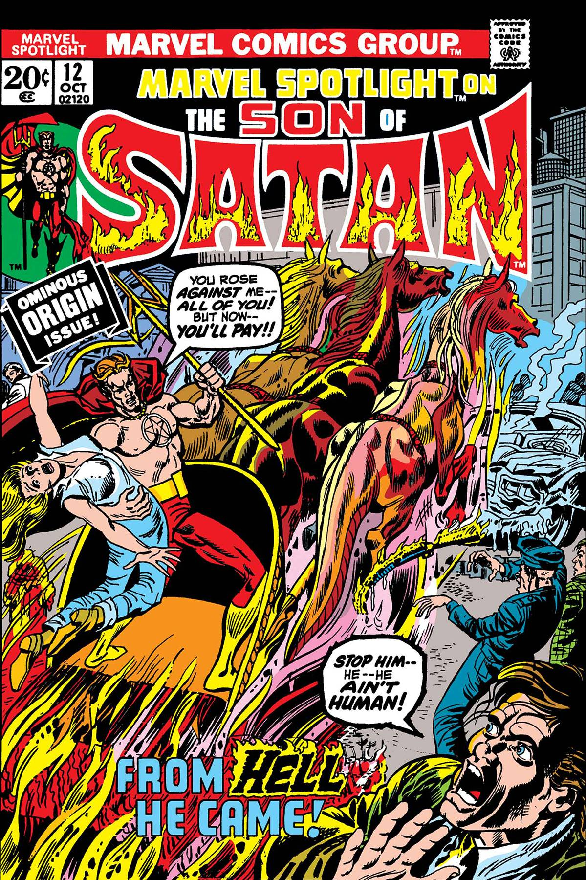 Marvel Spotlight Son of Satan #12 Facsimile Edition