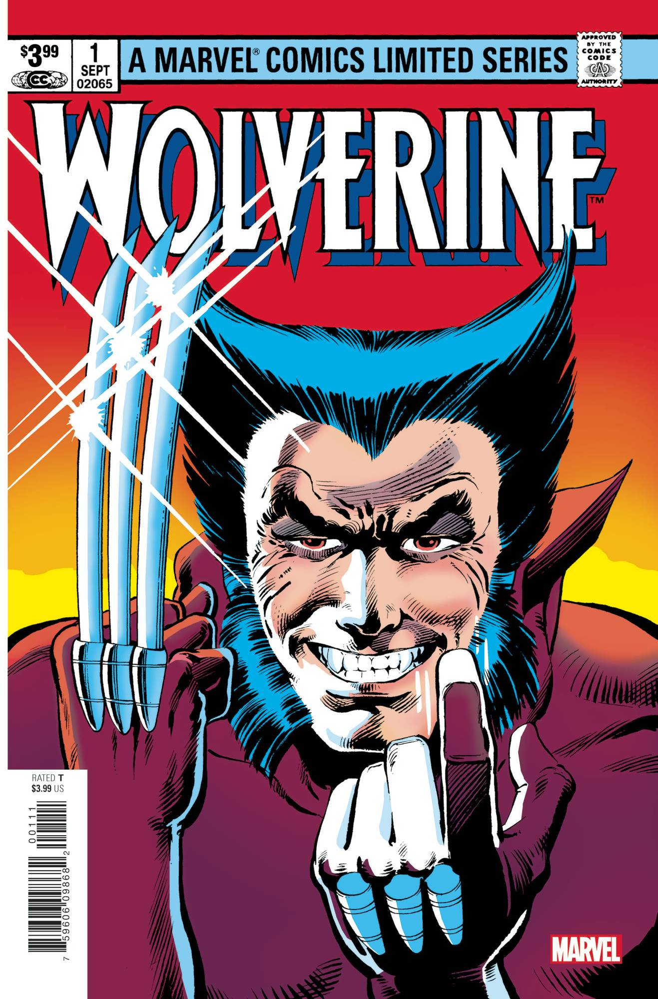 Wolverine #1 by Claremont & Miller Facsimile Edtion