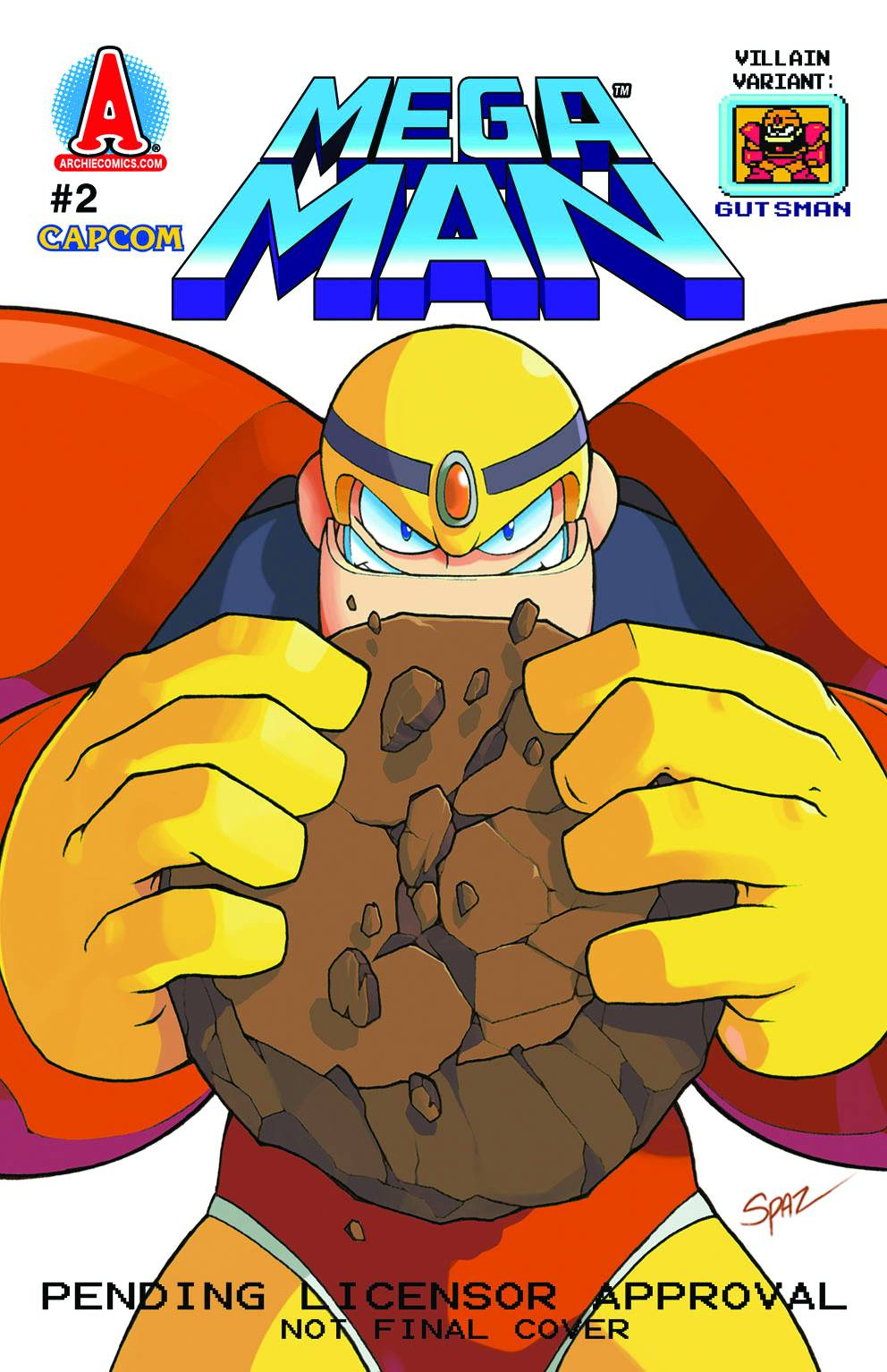 Mega Man #2 Villain Variant First Print