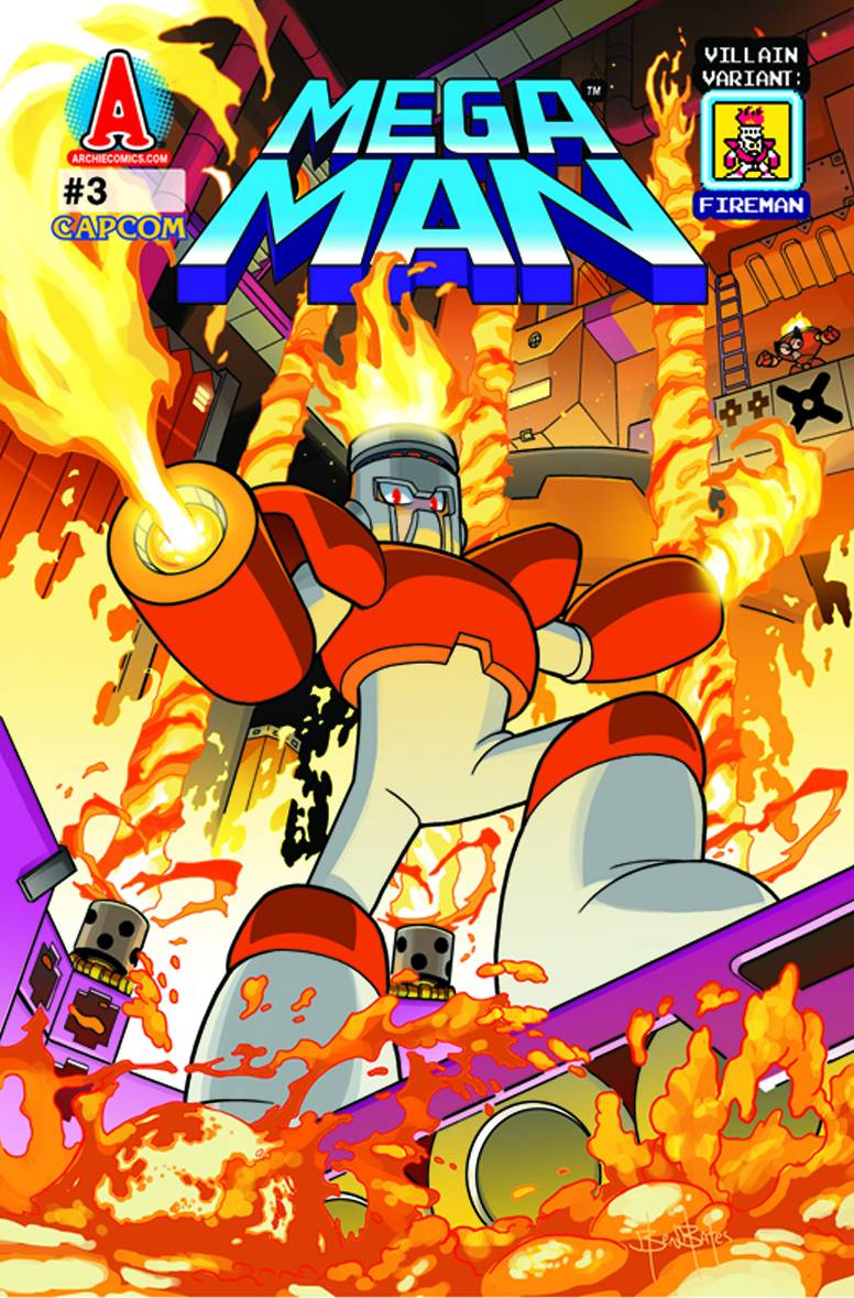 Mega Man #3 Variant Cover First Print